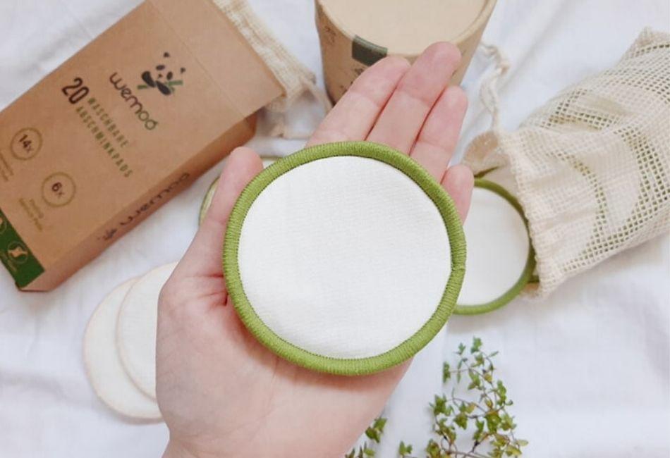 Greenzla waschbare Abschminkpads Größe Vergleich Zero Waste