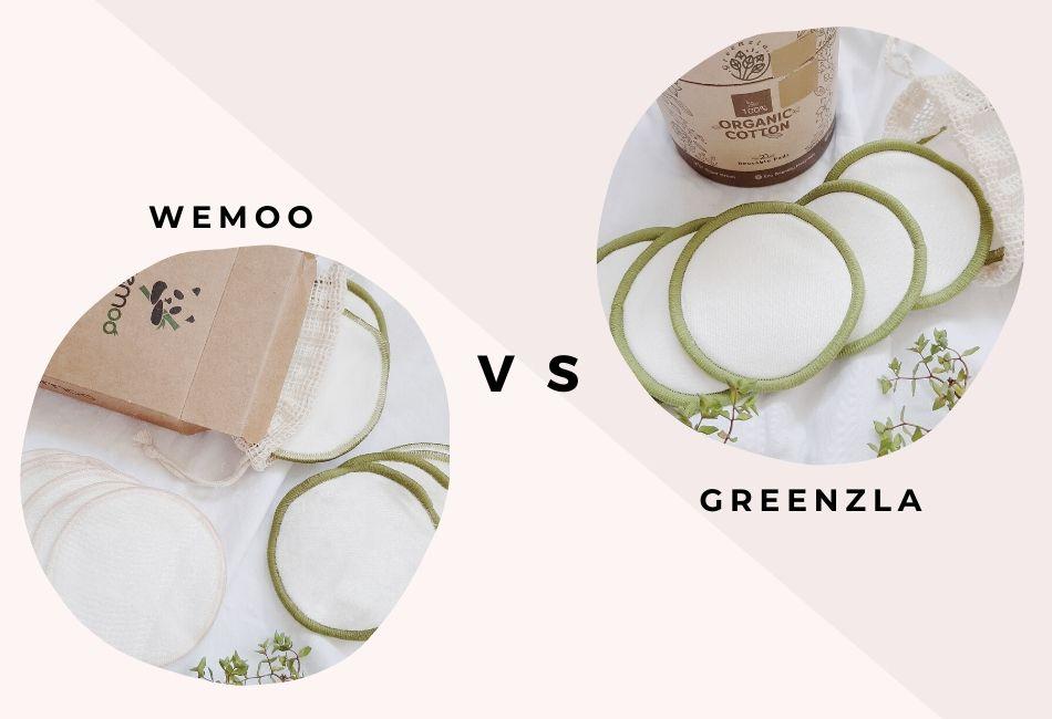 Vergleich waschbarer Abschminkpads von Wemoo und Greenzla