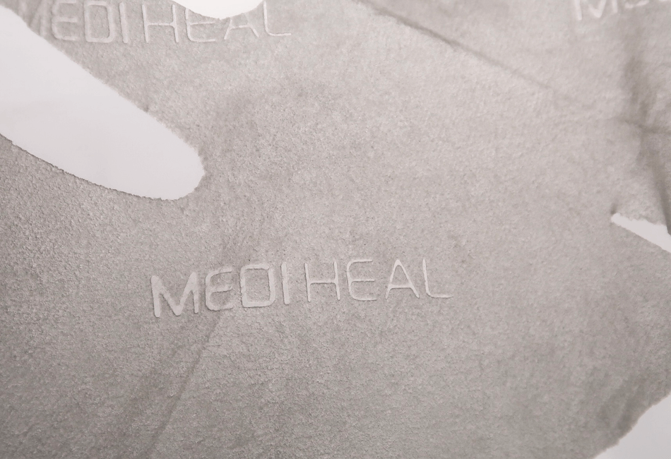 Mediheal Sheet Maske Logo eingepresst
