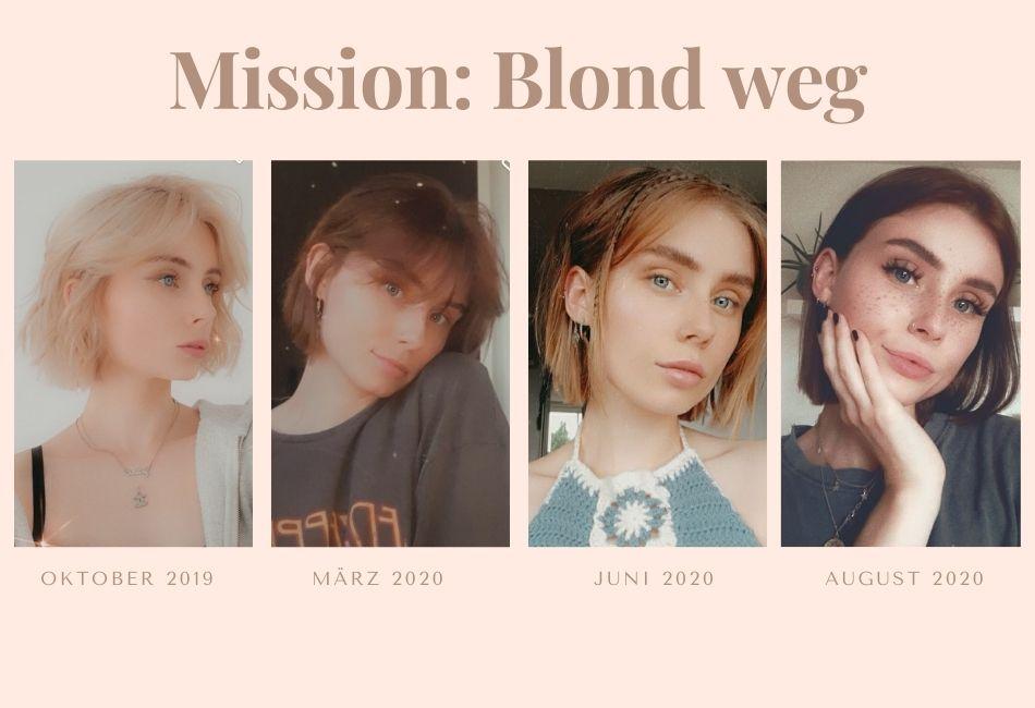 Kaputt blondierte Haare retten