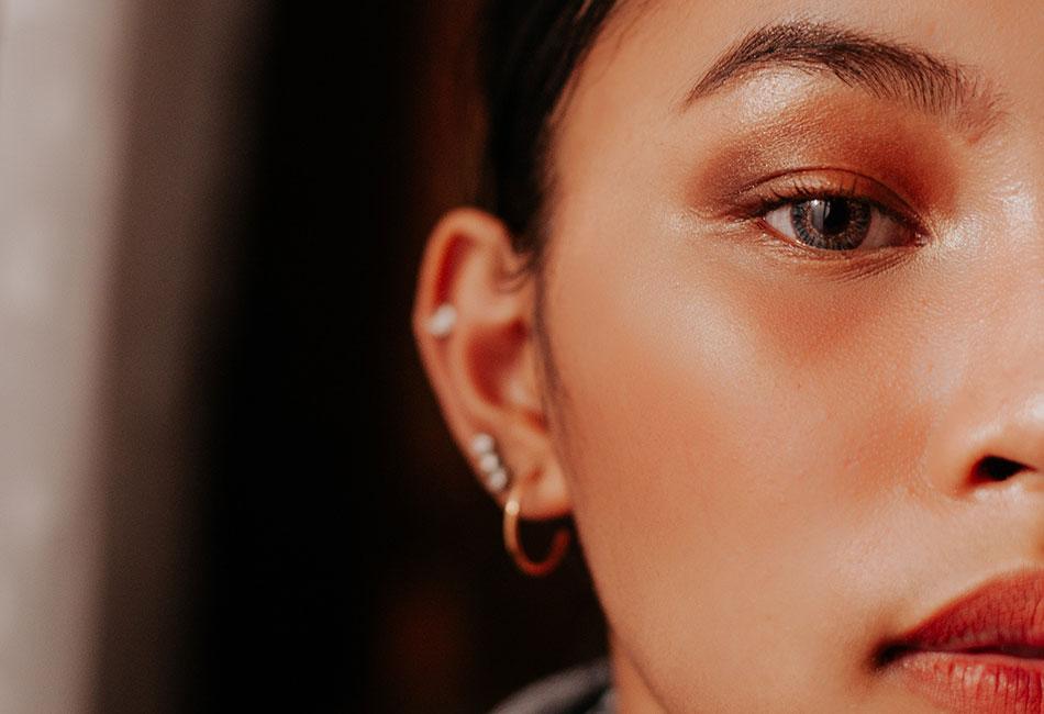 Braune Augen Make-up