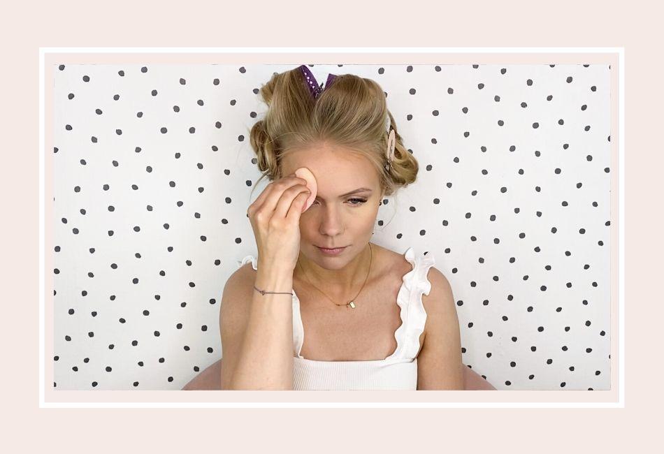 Anleitung: Mein Braut Make-up für die Hochzeit – Schritt 5 Puder mit Schwamm