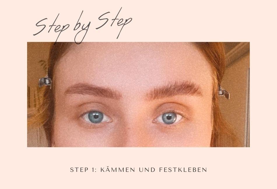 Brow Lamination Step 1 Kleben
