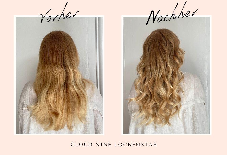 Cloud Nine Lockenstab Vorher/ Nachher