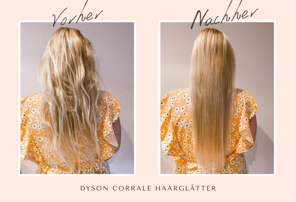 Dyson Corrale Vorher/Nachher: Feines Haar glätten