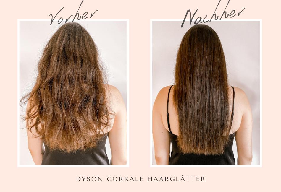 Dyson Corrale Vorher/Nachher: Dickes Haar glätten