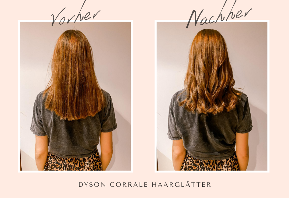 Dyson Corrale Vorher/Nachher: Locken stylen
