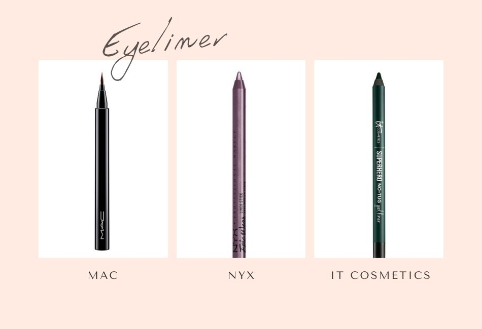 Eyeliner & Kajal grüne Augen schminken