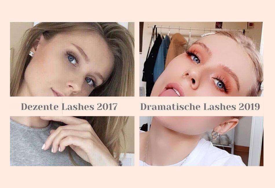 Früher und Heute Makeup Looks mit Fake Lashes Künstliche Wimpern