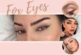 Fox Eyes schminken Trend 2020 Fox Eye Make-up