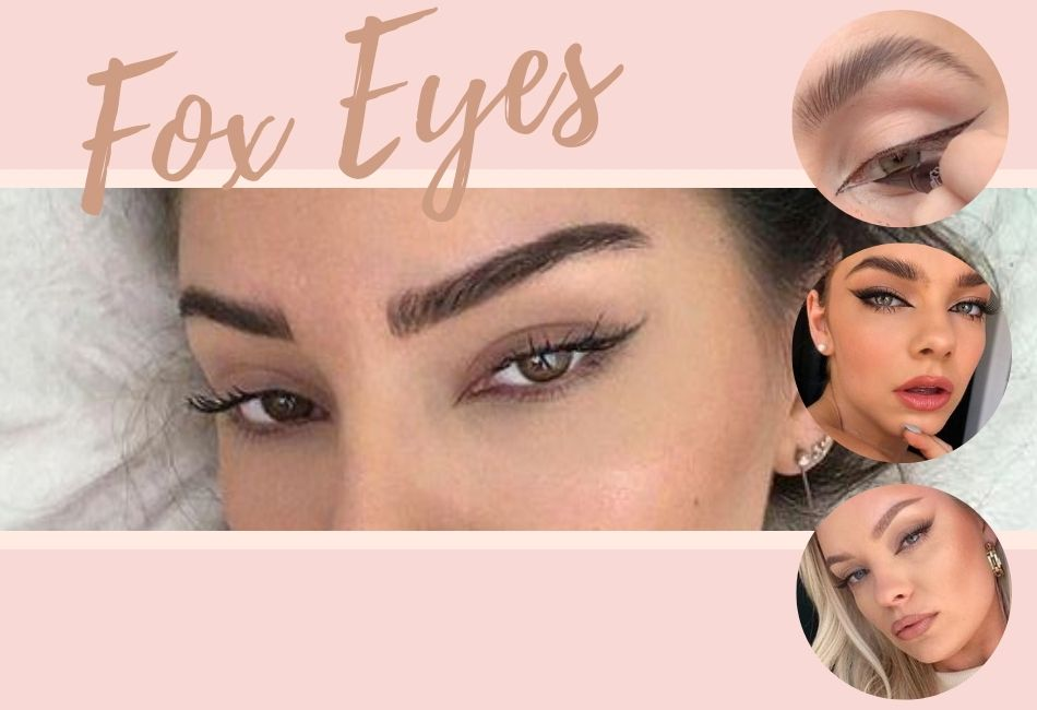 Fox Eyes schminken Trend 2020 Fox Eye Make-up