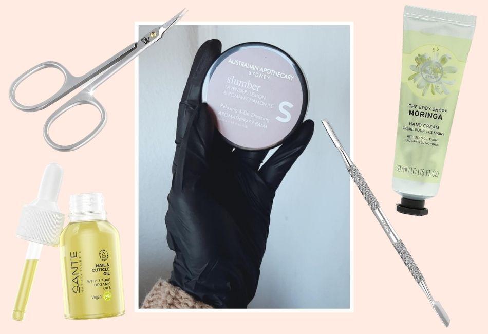 Gelnägel zuhause selber machen Handmaske Nagelpflege Anleitung lange Nägel