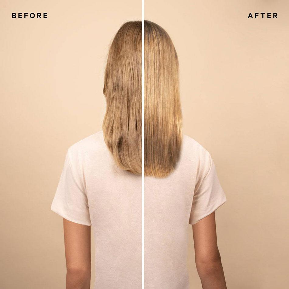 Warmes Blond Glossing im Vorher/Nachher-Vergleich