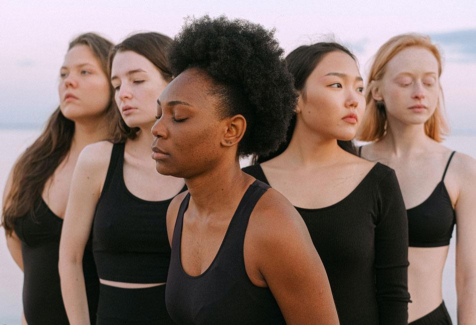 Frauen mit unterschiedlichen Haartypen