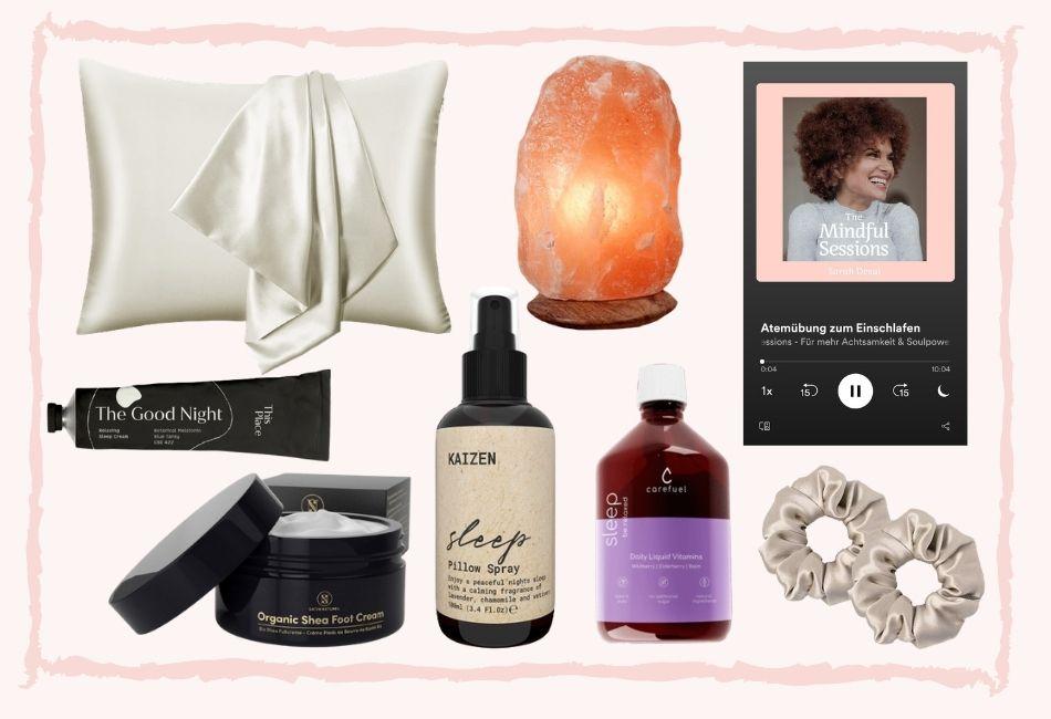 Produkte für den Schönheitsschlaf