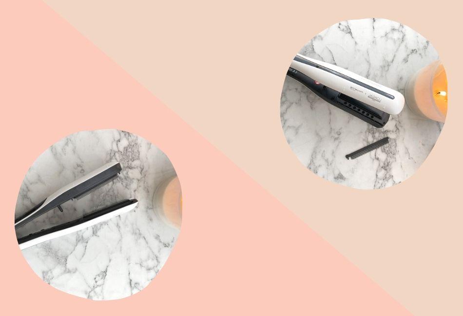 L'Oréal Steampod mit und ohne Kamm