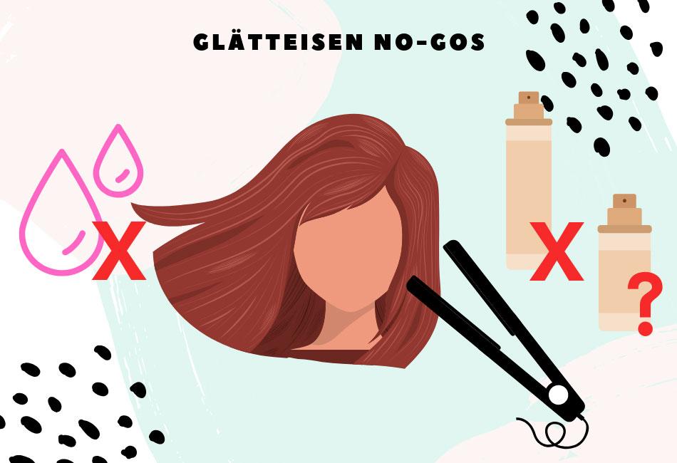 Nasse Haare, Haarspray, Trockenshampoo? Was sind Glätteisen No-Gos?
