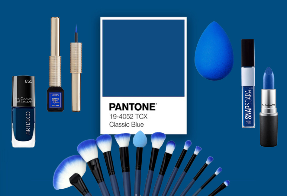 Classic Blue Pantone Farbe des Jahres 2020 Beauty Produkte