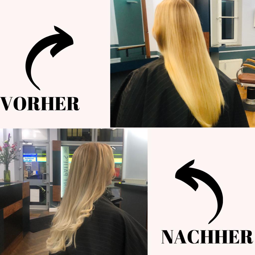 Silbershampoo Vorher/Nachher, Credit: Beauty Report