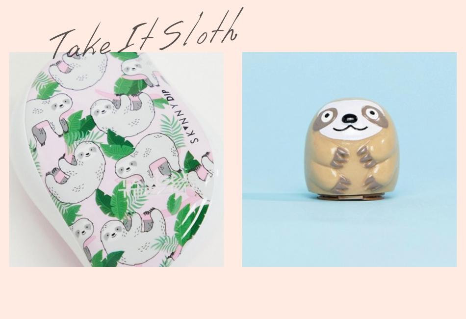 Geschenkidee für die Freundin: Take it Sloth