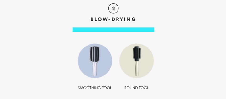 Tangle Teezer Haarbürste mit Griff zum Föhnen