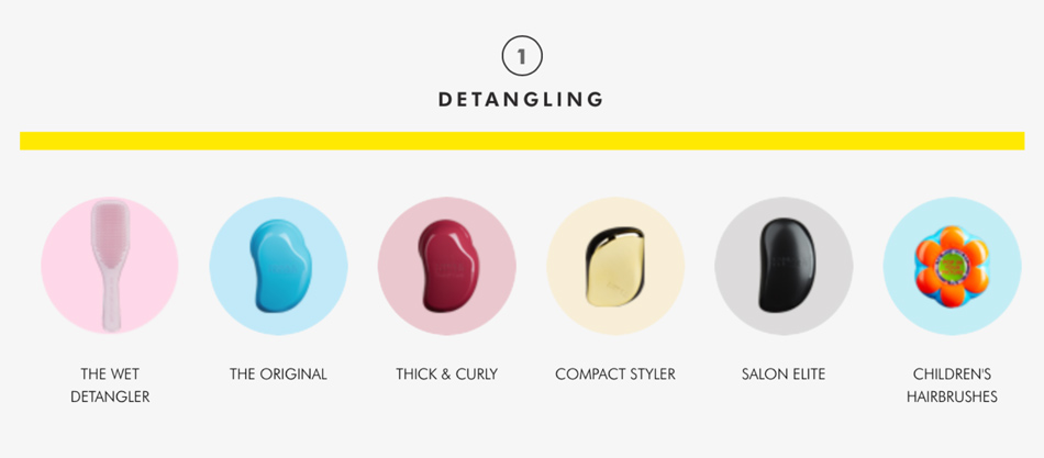 Tangle Teezer Haarbürste zum Entwirren verfilzter Haare