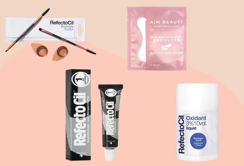 Produkte zum Wimpernfärben